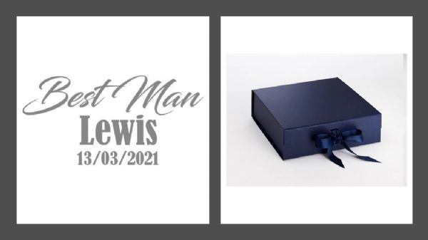 Best Man Large Luxury Personalised Gift Box